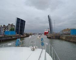 Lowestoft Bascule Bridge opening for us