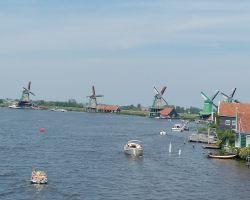 Zaans Schans Windmills From The Opening Julianabrug Bridge