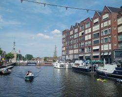The sheltered Turfmarkt basin at Alkmaar