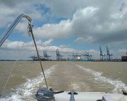 Leaving the Harwich Estuary