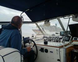 P&O Cruise ship-Arcadia off of Southwold