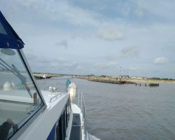 Approaching Southwold Harbour