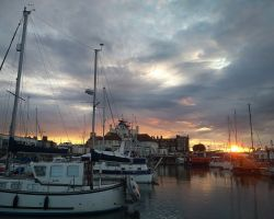 The sunset over Lowestoft again